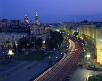 Khreshchatyk street in evening time Stock Images