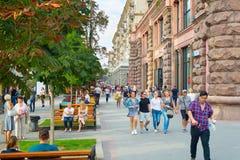 Khreshchatyk street. Kiev, Ukraine Royalty Free Stock Photo