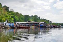 Khuan Tung Ku Pier auf der Trang-Küstenlinie lizenzfreies stockfoto