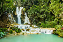 Khuang si Waterfall,laos Stock Photos