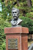 Monument to the founder of the arboretum in Sochi Khudekov SN, Russia. Royalty Free Stock Images