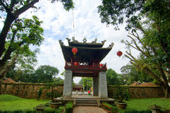 Khue Van Cac one of the gate at Temple of Literature. This is the first university of Vietnam. Van Mieu is symbol of Hanoi - Vietnam capital Stock Image