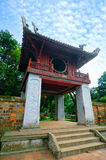 Khue Van Cac one of the gate at Temple of Literature. This is the first university of Vietnam. Van Mieu is symbol of Hanoi - Vietnam capital Royalty Free Stock Photos