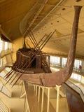 Khufu sunfartyg royaltyfria foton