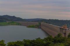 Khum dan pharchon Dam. Landscape of Khum dan pharchon Dam & x28;Roller Compacted Concrete or RCC Dam& x29; in Stock Photo