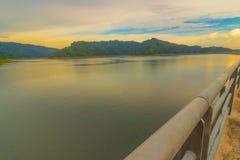 Khum dan pharchon dam & x28;Thailand& x29;. Highest full level of water storage in khun dan prakarn chon dam nakorn nayok thailand Royalty Free Stock Images