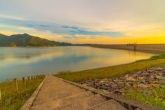 Khum dan pharchon dam Thailand. Highest full level of water storage in khun dan prakarn chon dam nakorn nayok thailand Stock Photos