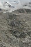 Khumbu冰川在喜马拉雅山 尼泊尔 图库摄影