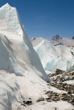 Khumbu Glacier. Static waves of ice on the Khumbu Glacier, near the Western Cwm Royalty Free Stock Photography