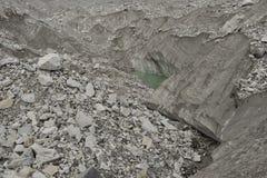 Khumbu glacier formations with glacier small lakes. Himalaya. Nepal Stock Photography