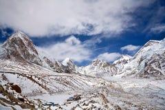 Khumbu Glacier and mountain landscape in Sagarmatha, Nepal Stock Photo