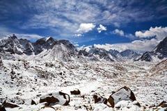 Khumbu glacier, Nepal Royalty Free Stock Images
