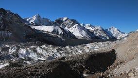 Khumbu Glacier, view from Gorak Shep Stock Photo