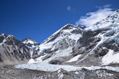 Khumbu glaciers. base camp. Khumbu glaciers. Everest base camp Royalty Free Stock Image