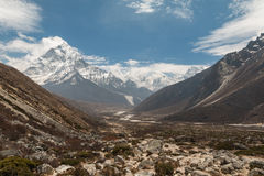 Khumbu region in Himalayas Nepal Royalty Free Stock Photos