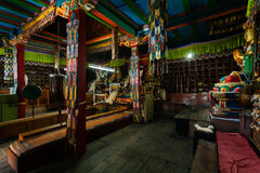 Khumjung Manastry interior Royalty Free Stock Images