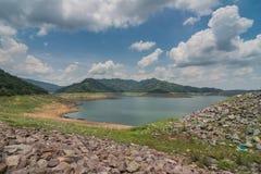 Khun丹Prakan Chon水坝视图 库存图片