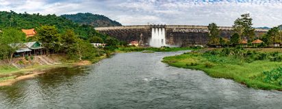 Khun Dan Dam landscape Stock Images