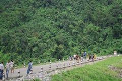 08 27 2017 - Khun Dan Prakan Chon, barrage de Nakhornnayok, Thaïlande Image stock