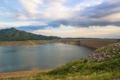 Khun Dan Prakan Chon dam, Nakhon Nayok, Thailand / dams to store. Water Stock Images
