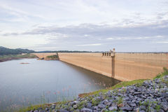 Khun Dan Prakan Chon dam, Nakhon Nayok, Thailand / dams to store Royalty Free Stock Photo