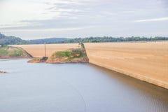 Khun Dan Prakan Chon dam, Nakhon Nayok, Thailand / dams to store. Water Royalty Free Stock Photography