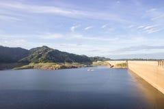 Khun Dan Prakan Chon dam, Nakhon Nayok, Thailand / dams to store. Water Royalty Free Stock Photos