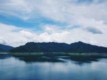Khun Dan Prakan Chon Dam view Stock Photo