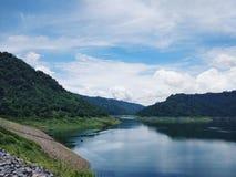 Khun Dan Prakan Chon Dam view Royalty Free Stock Photos