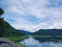 Khun Dan Prakan Chon Dam view Stock Photography