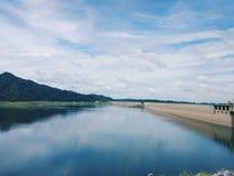 Khun Dan Prakan Chon Dam view Royalty Free Stock Photo