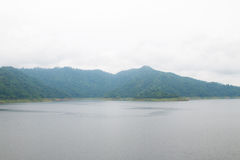 Khun Dan Prakan Chon Dam view in Nakhon Nayok province Royalty Free Stock Images
