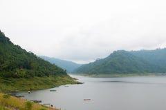 Khun Dan Prakan Chon Dam view in Nakhon Nayok province Royalty Free Stock Photos