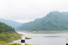 Khun Dan Prakan Chon Dam view in Nakhon Nayok province Royalty Free Stock Photo