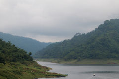 Khun Dan Prakan Chon Dam view in Nakhon Nayok province Stock Image
