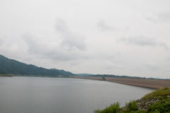 Khun Dan Prakan Chon Dam view in Nakhon Nayok province Stock Photo