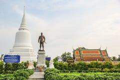 Khun Khang Lhek monument på Wat Wang Temple, Phatthalung, Thaila Royaltyfria Foton