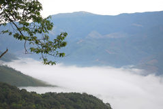 Khunnan view. Mist and the mountain view at Khun Nan National Park, Nan Royalty Free Stock Image