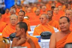 Khunpepe041. NAKHON SI THAMMARAT, THAILAND - JULY 2 : Hundreds of Buddhist monks gather to celebrate of Buddha Jayanti, 2,600 years of the Buddha's Stock Images