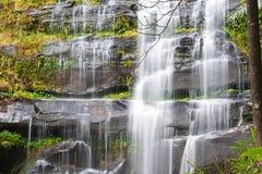 Khunphong Waterfall in deep jungle Stock Image