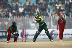 Khurram Manzoor. Pakistani Player Khurram Manzoor scored a fifty on debut as Pakistan beat Zimbabwe by seven wickets in Sheikhupura to clinch the series 5-0 Stock Photography