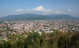 Khust von der Höhe des Schlossberges Stockfoto