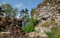 Khust von der Höhe des Schlossberges Stockfotos