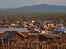 Khuzir-Dorf bei Sonnenuntergang Stockbild