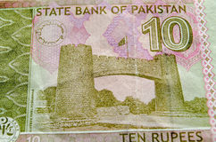 Khyber Pass on Pakistan Banknote Stock Photos