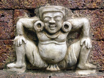 khymer雕象墙壁 免版税库存照片