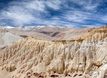 Khyunglun caves in Garuda Valley, Western Tibet Royalty Free Stock Images