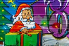 Kiść malujący Santa Obrazy Stock