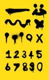 Kiści farby vecter dla projekta i liczby kiści farby tła Obrazy Royalty Free