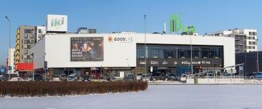 Ki市场在冬天Pilaite地区 免版税库存照片